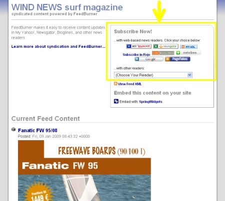 WindNews su FeedBurner